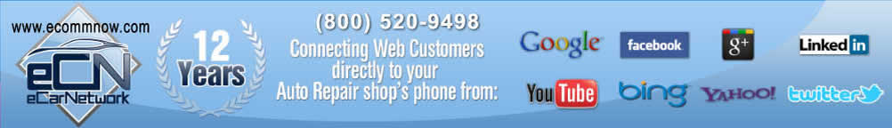 Auto repair shop advertising, online marketing, web design, websites